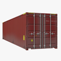 40 ft iso container 3d 3ds