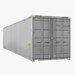 3d 40 ft iso container model