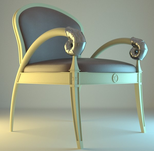 3d model of light armchair