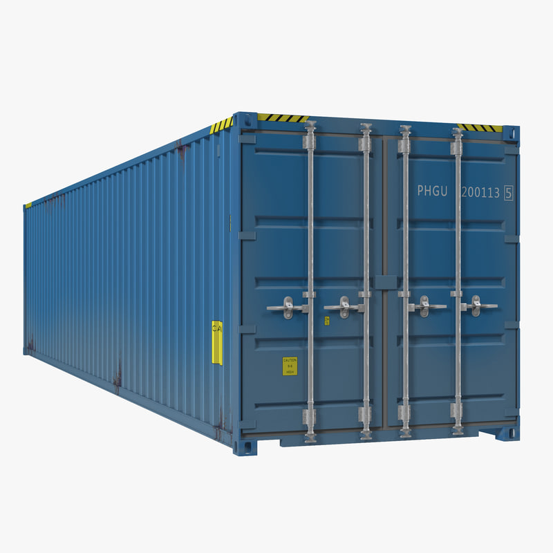 3d model 40 ft iso container