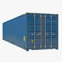40 ft ISO Container Blue 2 3D Model