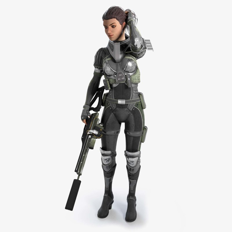 futuristic female character max