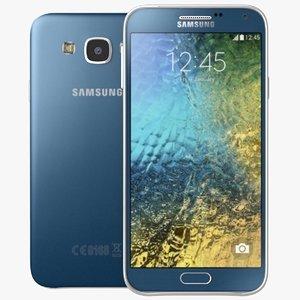 3d model samsung galaxy e5 blue
