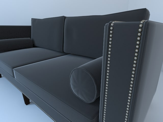 clinton velvet sofa max
