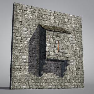 blender medieval castle defensive structure