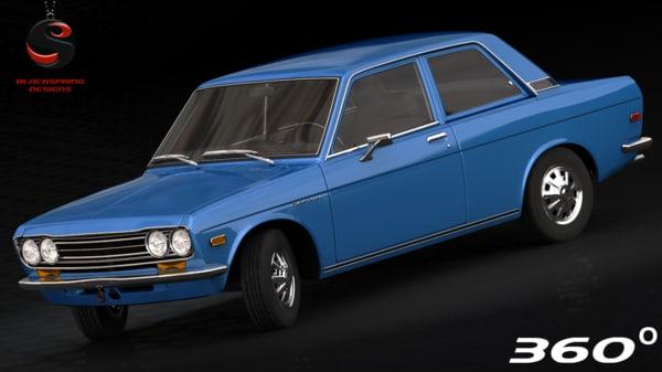 3d nissan datsun 510 1970 model