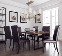 3d model modern dining room interior