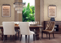 3d rustic dining room