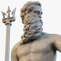 sea god poseidon 3d max