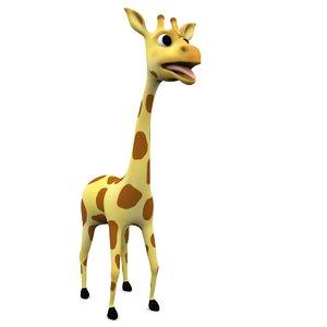 3d cartoon giraffe