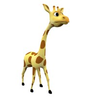 cartoon giraffe rigged fbx