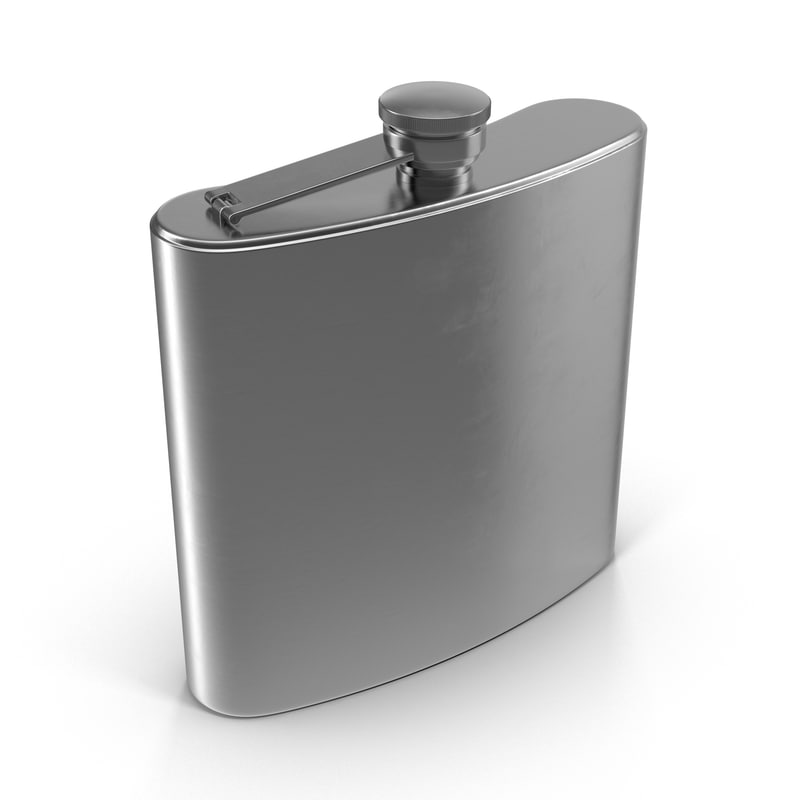 stainless steel flask 3d model