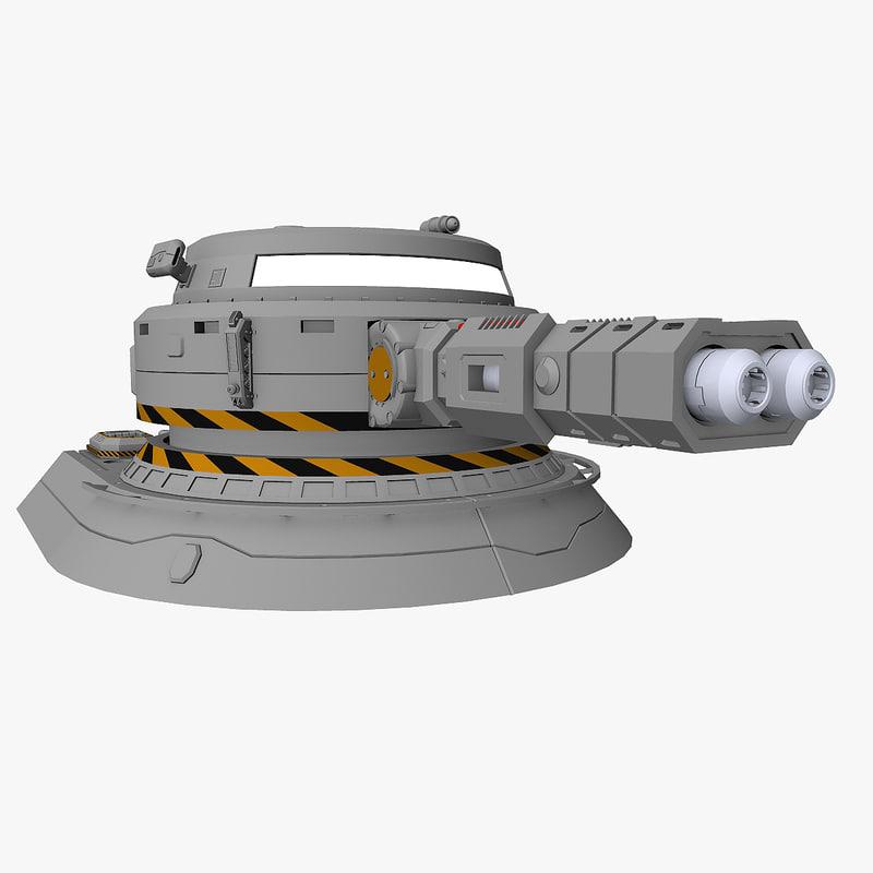 heavy plasma turret 3d model