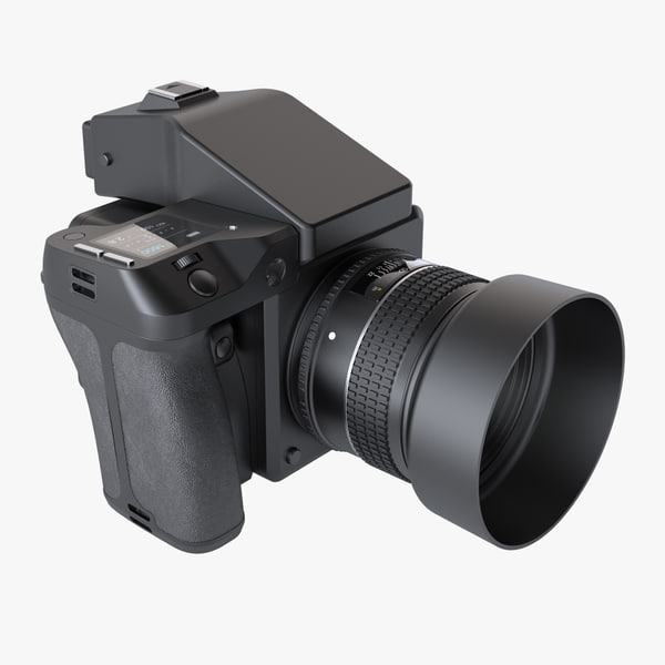 photoreal medium format digital camera 3d model