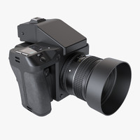photoreal medium format digital camera 3d model