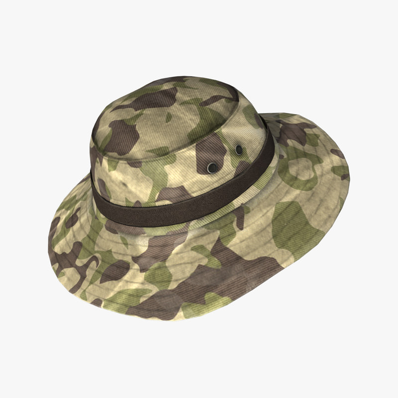 3d max military boonie hat