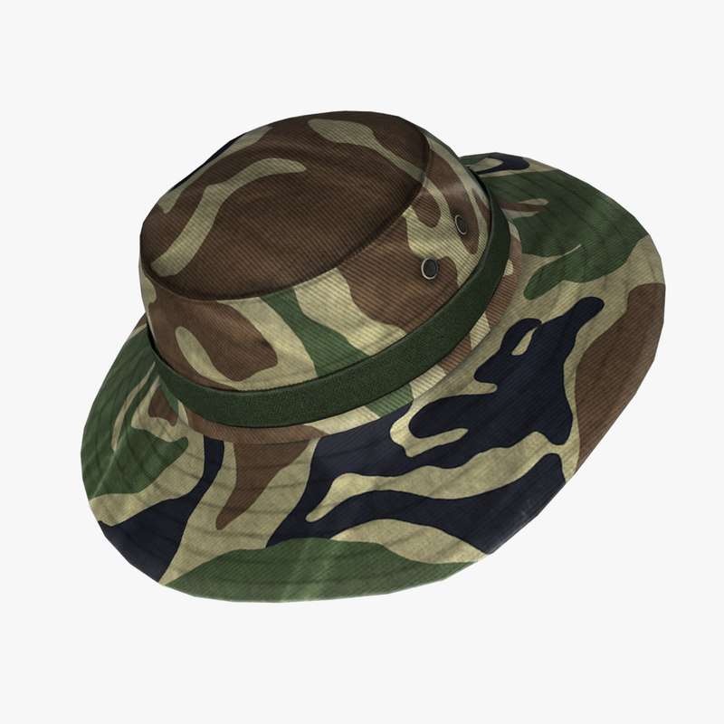 military boonie hat 3d max