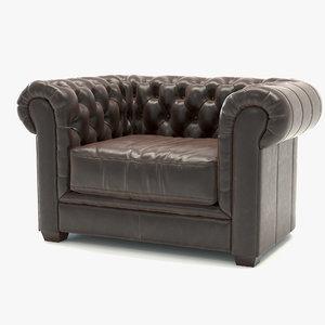 mayson chesterfield chair 3d max