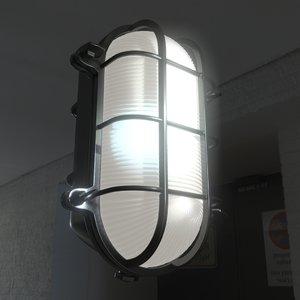 obj realistic bulkhead industrial light fixture