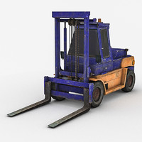 forklift lift 3d model