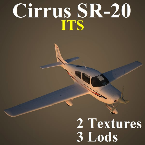 3d cirrus low-poly model