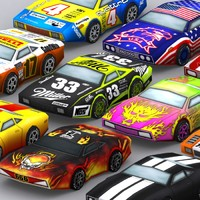 3d 0 road rush muscle cars