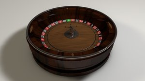 roulette animation ball 3d model