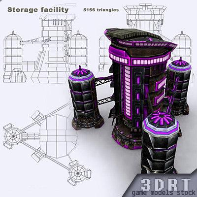 3d model sci-fi - storage facility