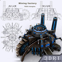 3ds max sci-fi - mining factory building