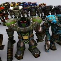 3d warbots characters model