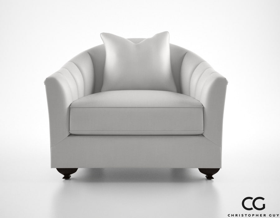 christopher guy misia armchair 3d model