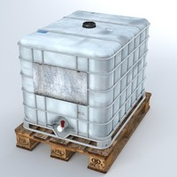Liquid Plastic Tank on Pallet