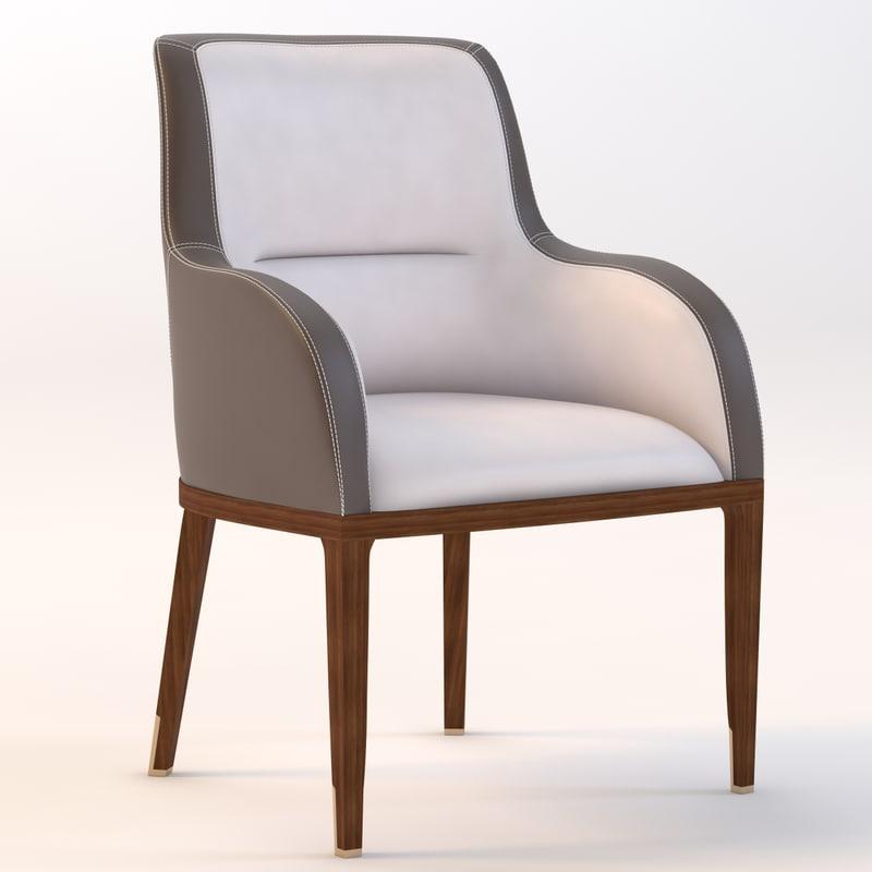 italian deka armchair 3d model