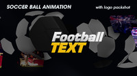 3d model broadcast soccer ball animation