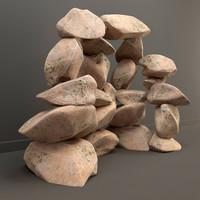 volcanic stone 3d model