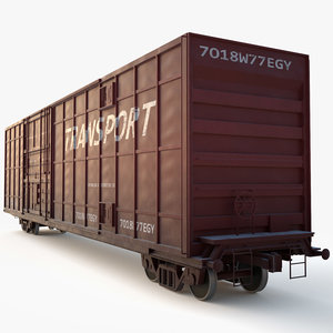 cargo carriage 3d model