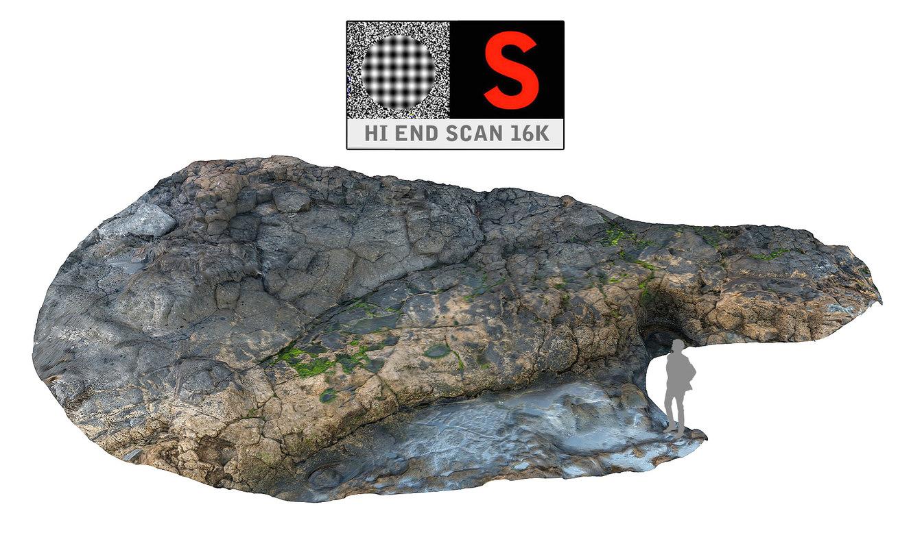 3d model volcanic beach ultra hd