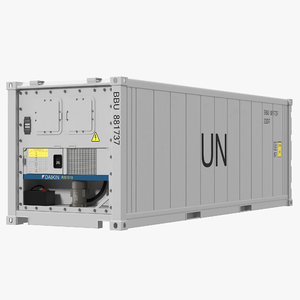 3d model iso refrigerated container
