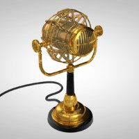 3d model of steampunk microphone
