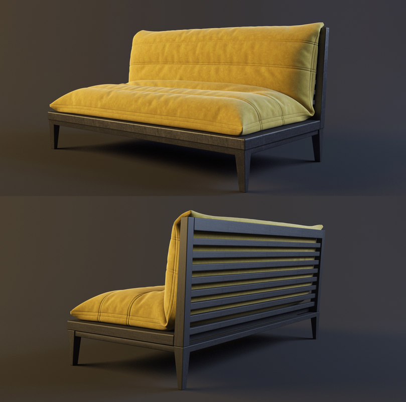 restaurant sofa 3d max