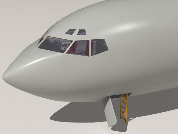 kc-135 cockpit 3d 3ds