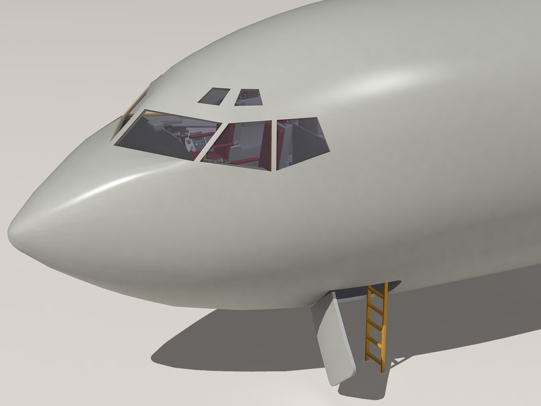 kc-135 cockpit 3d 3ds