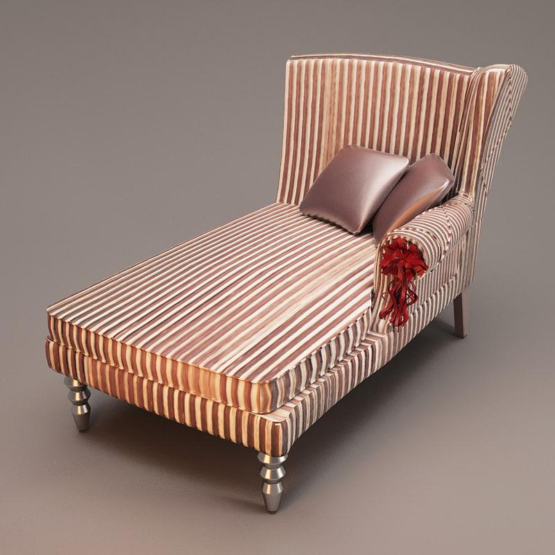 loungue couch 3d model