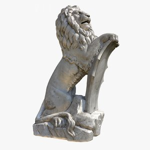 scanned sculpture lion cleaned max