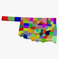 County Map - Oklahoma