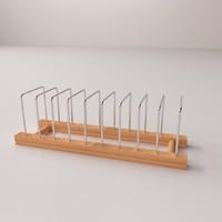 3d plate rack