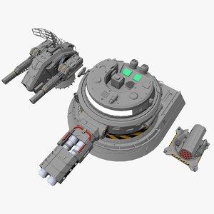 sci-fi weapon 3d x