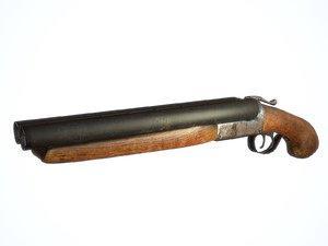 3d shotgun sawed sawed-off model