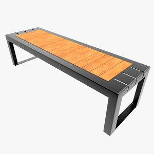 contemporary bench obj