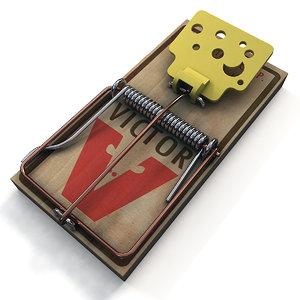3d obj mousetrap trap